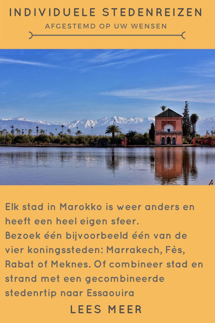 Individuele Stedenreizen naar Marokko