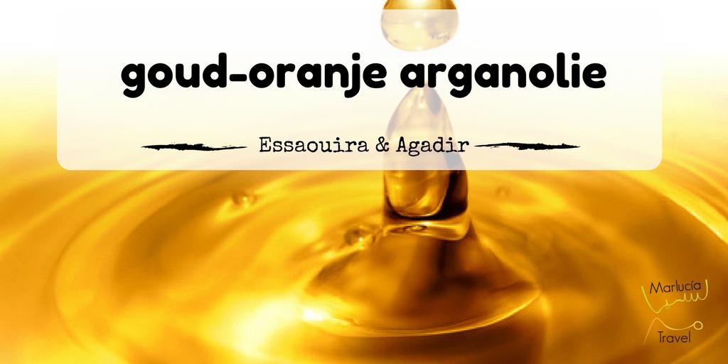 oranje gouden arganolie uit Marokko