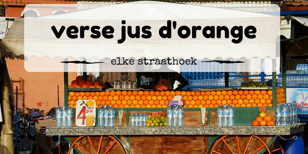 verse jus d'orange uit Marokko