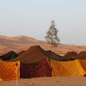 Nomadententen in de Sahara