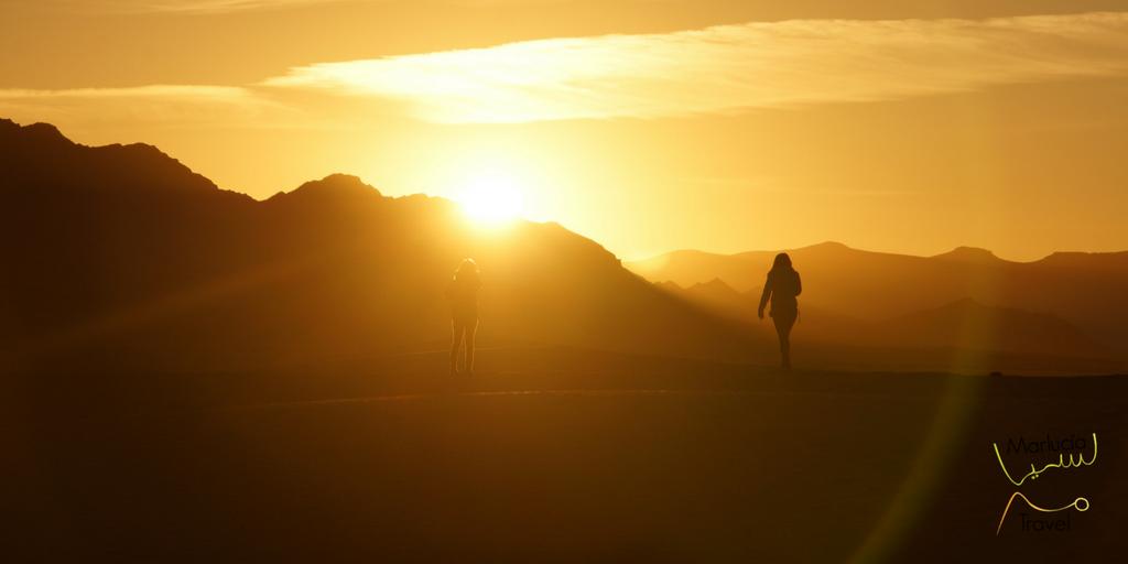 Zonsondergang Erg Chebbi Sahara