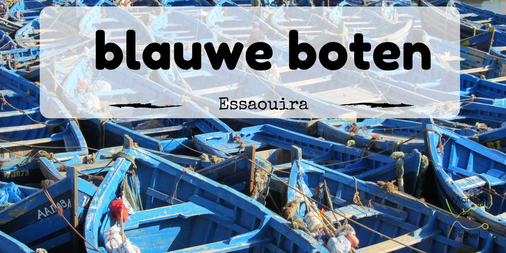 blauwe boten Essaouira