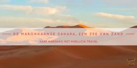 Marokkaanse Sahara zee van zand