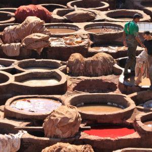 Leerlooierijens in Fez
