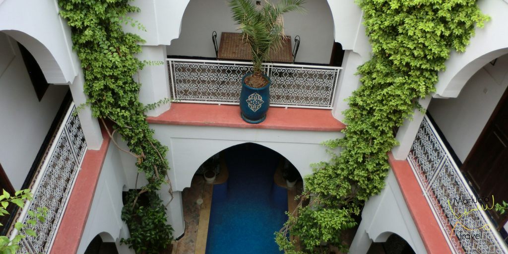 Riad uitzicht op patio