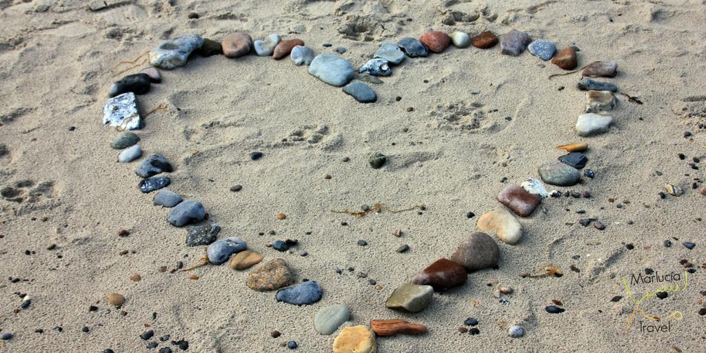 souvenir vakantie hartje in het zand